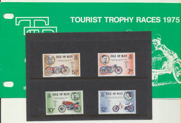Isla de Man 1975. Tourist Trophy Races 1975 **. En su carpeta