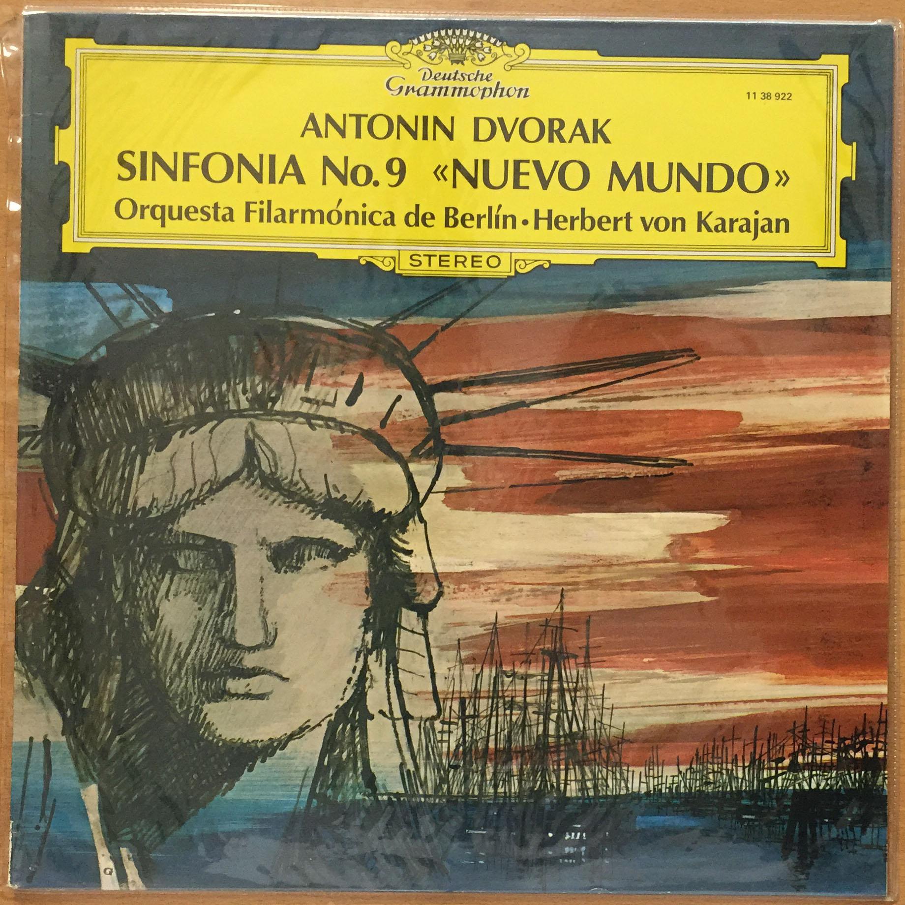 antonin dvorak sinfon'ía nº9 nuevo mundo. orquesta filarmó—nica de berl'ín & herbet von karajan