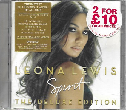 Leona Lewis. Spirit. The Luxe Edition. 2008 Sony BMG. 2 discos
