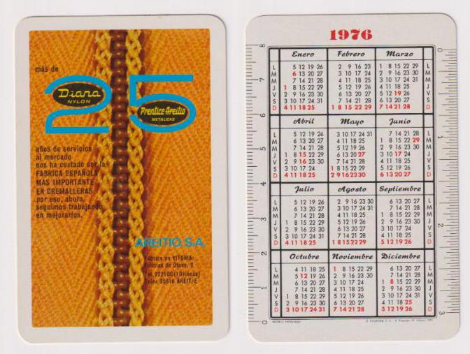 Calendario Julio 1976.Pliego Numismatica Y Coleccionismo Subastas Online Y En Vivo