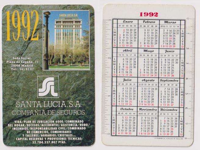 Santa Lucia Calendario.Pliego Numismatica Y Coleccionismo Subastas Online Y En Vivo