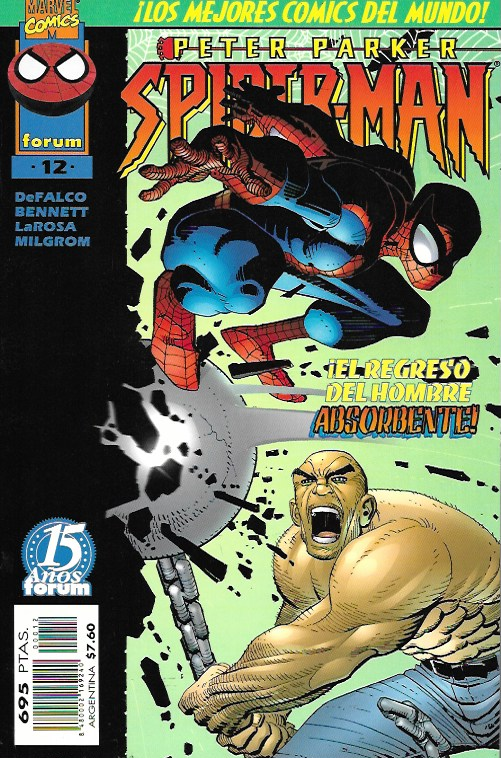 Peter Parker: Spiderman. Forum 1997. Nº 12