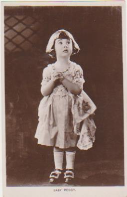 Foto-Postal. Baby Peggy. Real Photograph. Long Acre London 1920-30