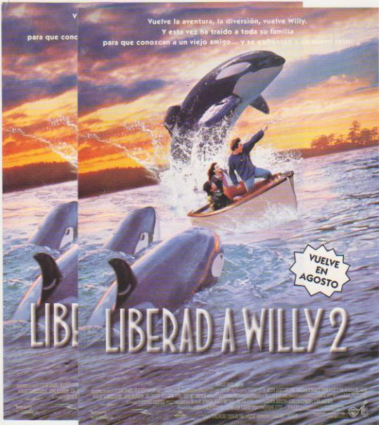 Liberad a Willy 2. Lote de 2 folletos de mano